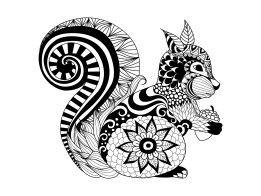 zentangle-a-colorier-ecureuil-par-bimdeedee