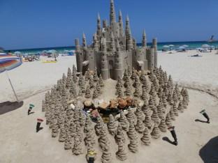 Eine Sand Burg