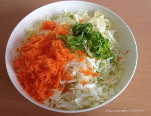 Zutaten für griechischen Krautsalat - lahanosalata