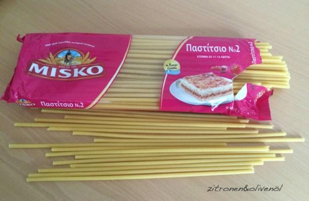 Makkaroni für Pastitsio