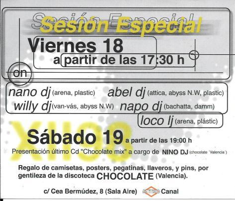 Plastic - Viernes 18 - Fiesta Chocolate-reverso
