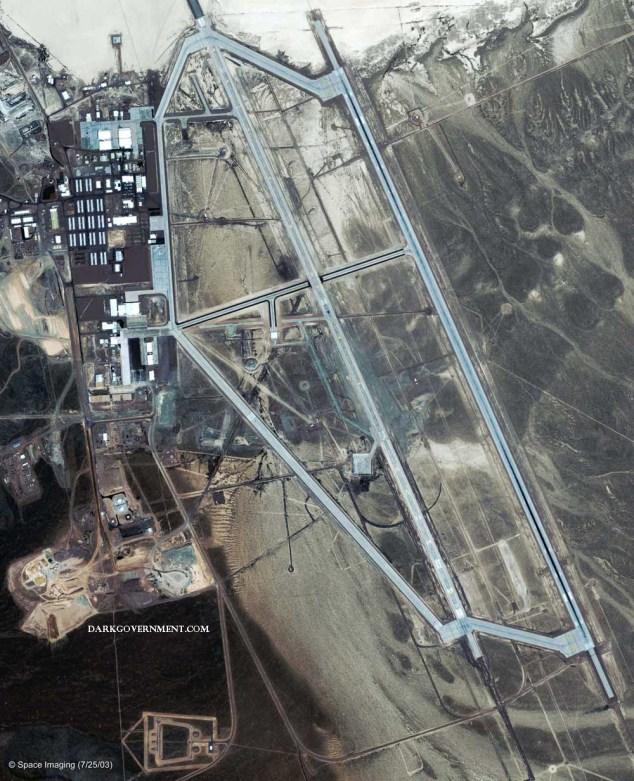 Satellite view of Area 51 courtesy of darkgovernment.com
