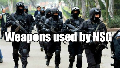 Weapons Used by NSG