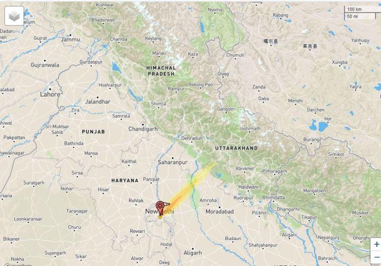 Nuclear Explosion Delhi