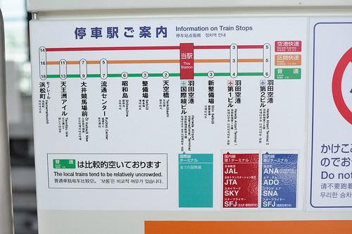 東京單軌電車的路線圖