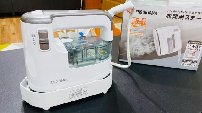 日本 IRIS Ohyama 大蒸氣熨斗 IRS-01-WS 蒸氣掛燙兩用熨斗