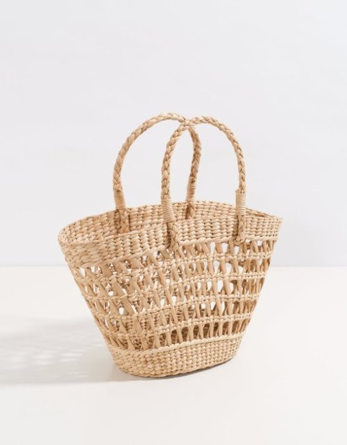 Trendy basket tote bag