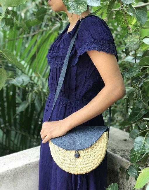 weaved sling bag