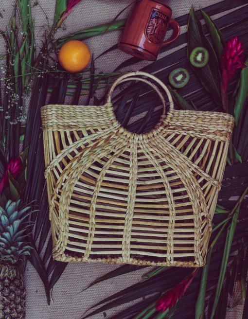 Handmade cane bag