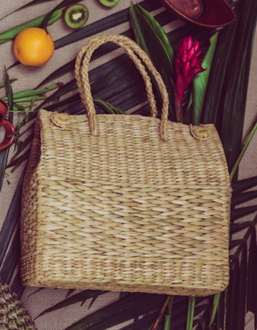 handmade basket bag