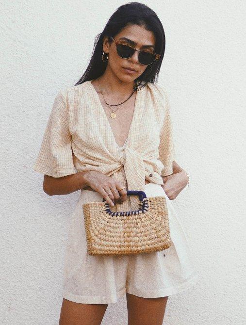 trendy weaved bag