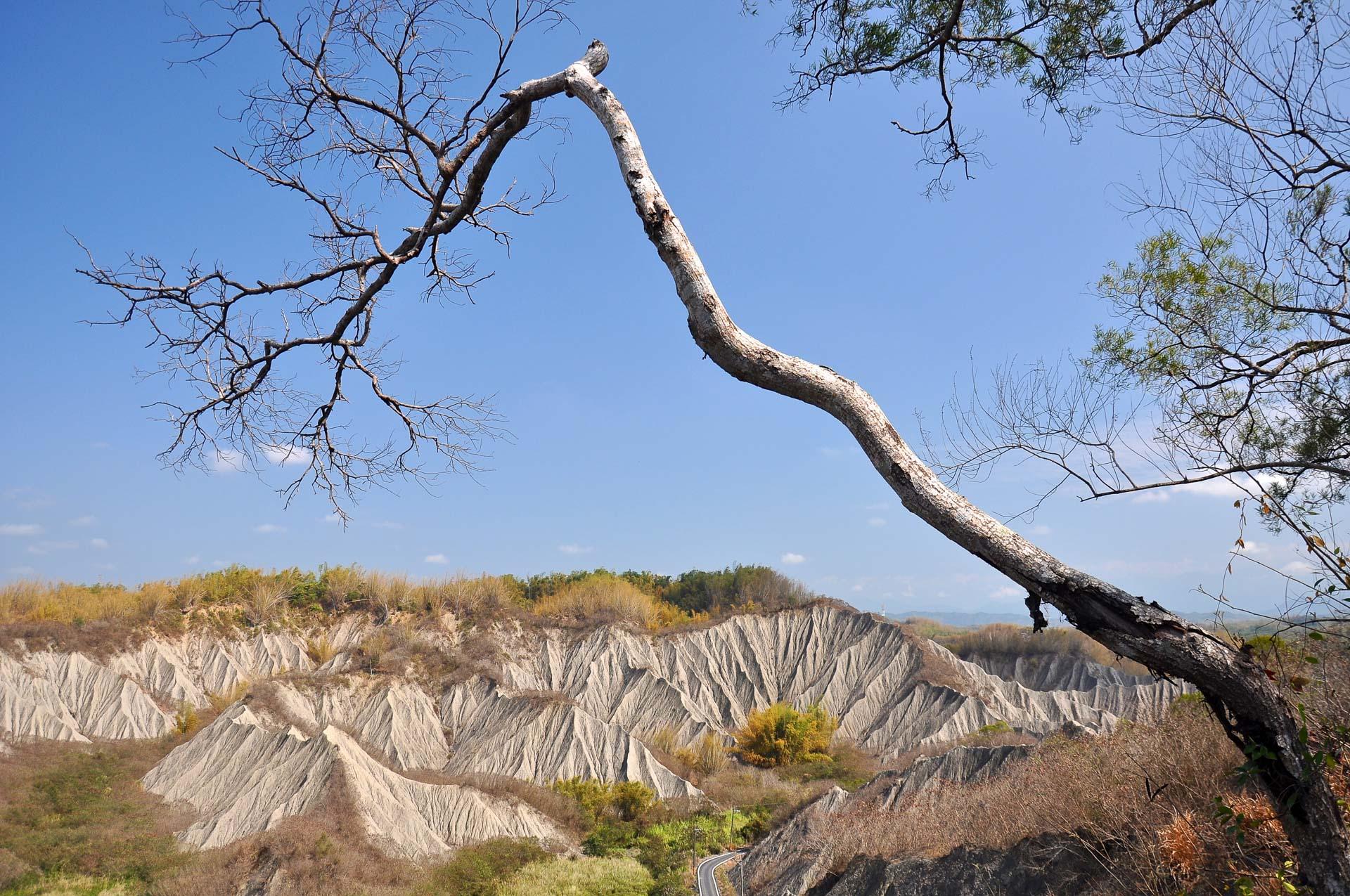 Jižní Taiwan oblast badlands