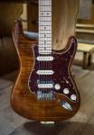Fender Rarities Series Flame Maple Top Stratocaster – 2021 – Golden Brown – NAMM2019 Model