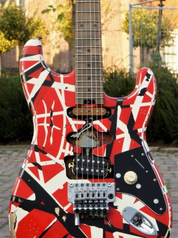 EVH Striped Series Frankie Red / White / Black Stripes Relic – Pre Order!