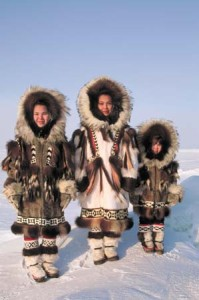 Inuit Children in Winter Furs