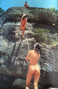 Naked mountaineering