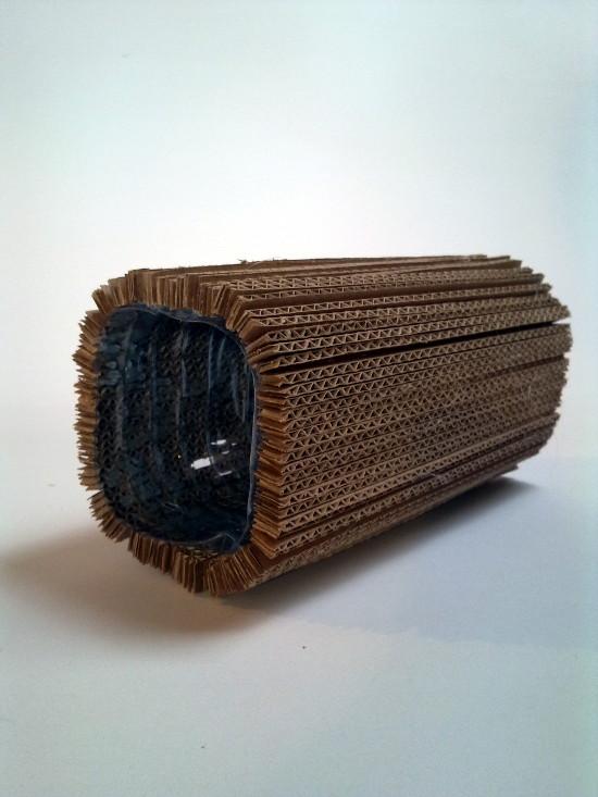 wazon-3 - z tektury, z kartonu