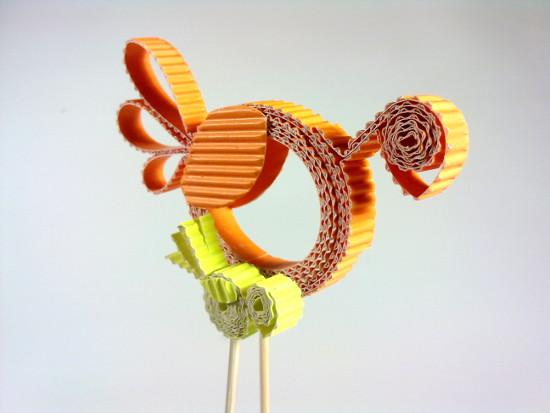 kurki-4 - Zabawki z tektury, zabawki z kartonu