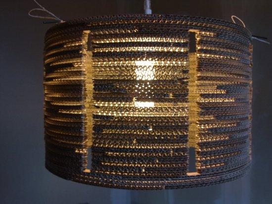 lampa-8-9 - lampa z kartonu, cardboard lamp