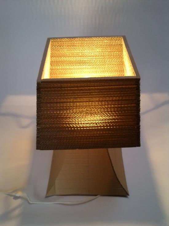 lampa-biurko-4 - z tektury, z kartonu