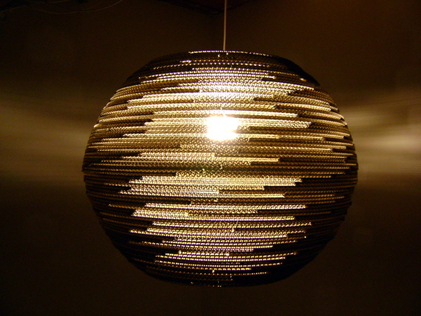 lampa-kula-60-10 - lampa z kartonu