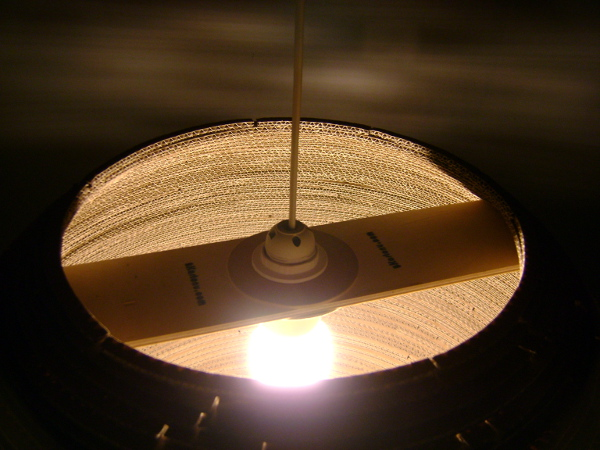 lampa-kula-60-11 - lampa z kartonu