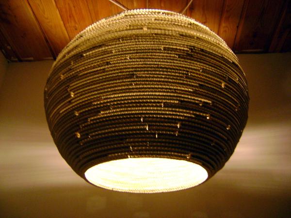 lampa-kula-60-12 - lampa z kartonu