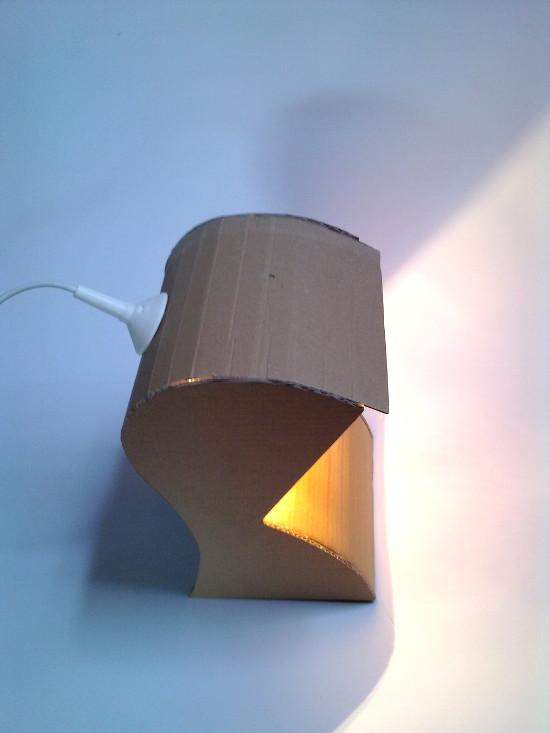 lampa-prototyp-2 - z tektury, z kartonu