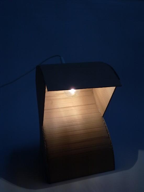 lampa-prototyp-4 - z tektury, z kartonu
