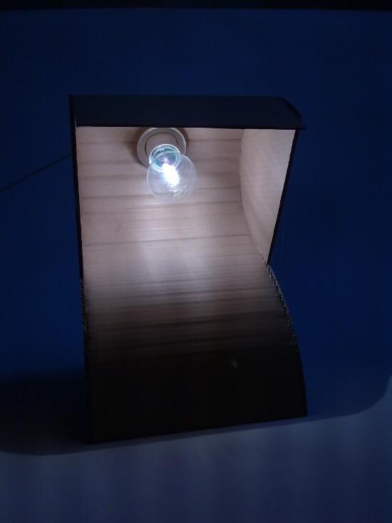 lampa-prototyp-7 - z tektury, z kartonu