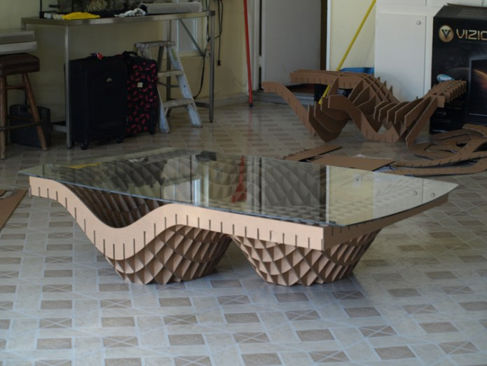 stolik 2 - z kartonu