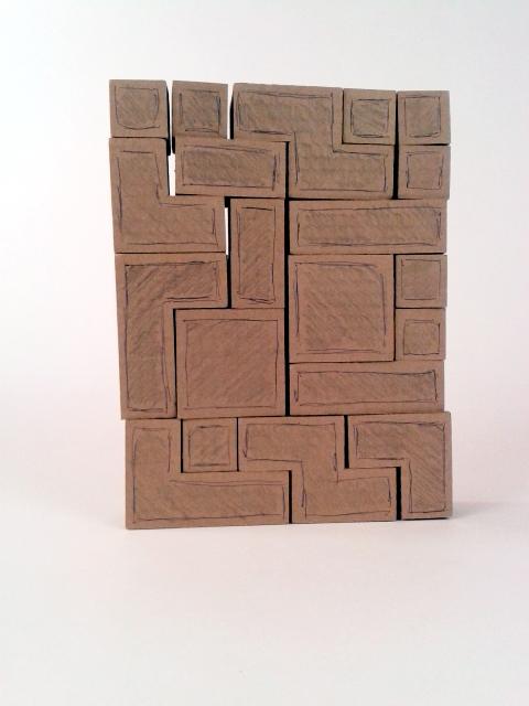 polka z tektury tetris - 1