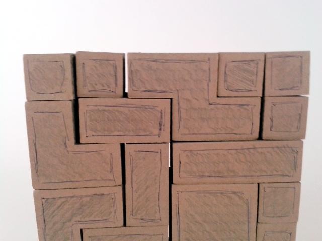 polka z tektury tetris - 3