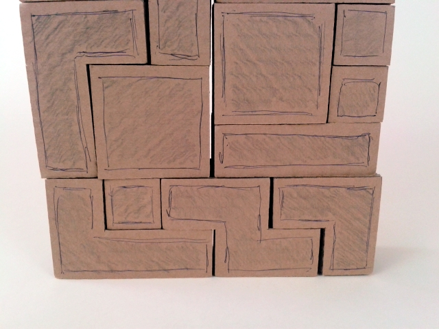 polka z tektury tetris - 5