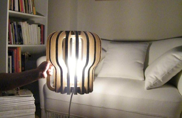 lampa z kartonu wszedzie 1