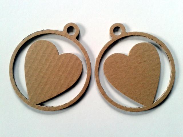 Serca z kartonu 10 - 1