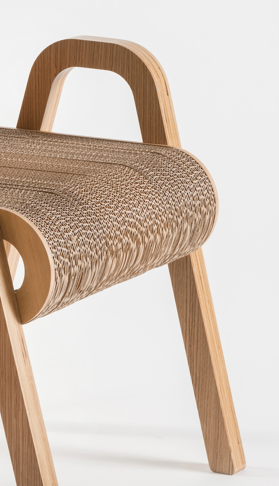 karton plus drewno stołek - 2