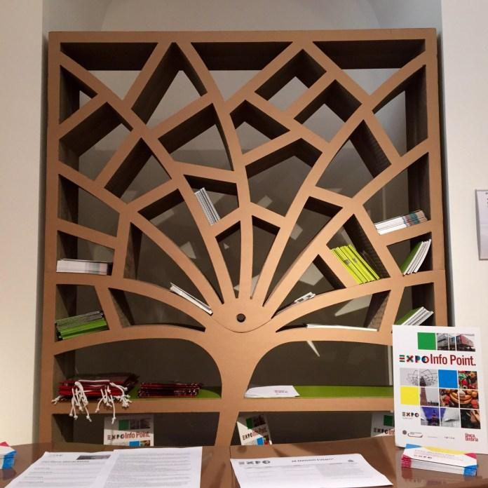 polka drzewo z kartonu - 3