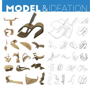 tekturowy model uchwytu na noze - 3