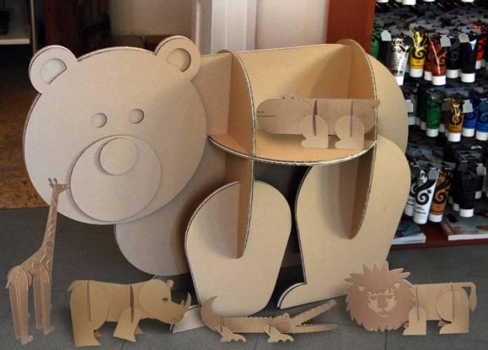 zabawki polki z kartonu - 2
