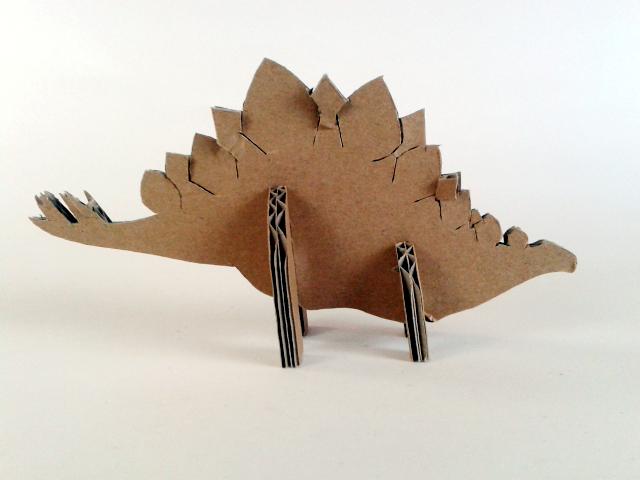 kartonowe dinozaury - 2- 3