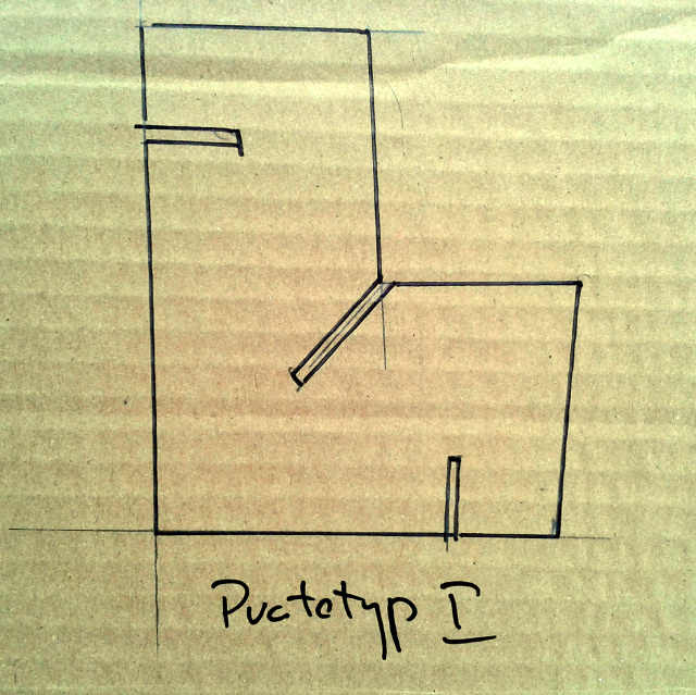 Skladak prototyp z kartonu - 1