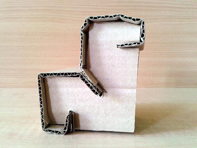 Skladak prototyp z kartonu - 2