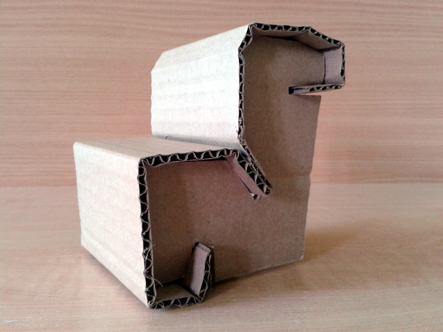 Skladak prototyp z kartonu - 3