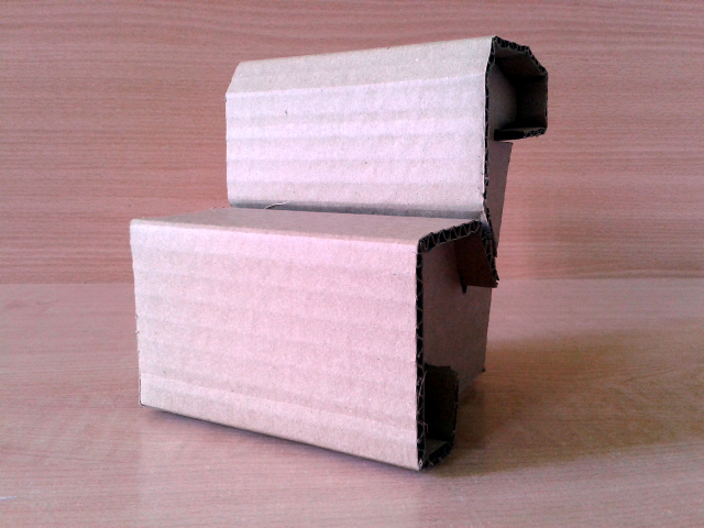 Skladak prototyp z kartonu - 4