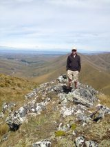 On the summit, looking west towards Naseby