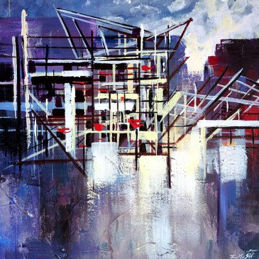 Contemporary abstract art painting by Zlatko Music