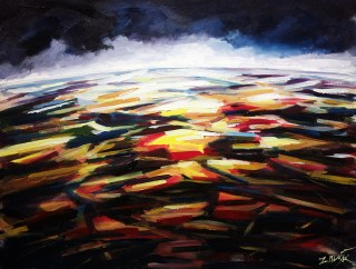 Contemporary modern art painting. Abstract art