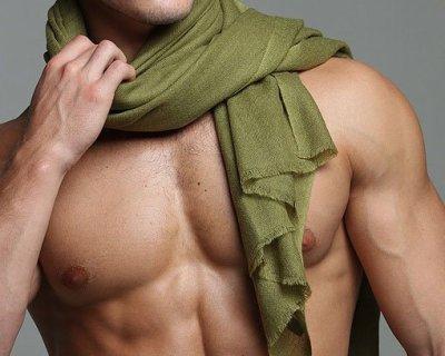 Pasmina olive green shawl.