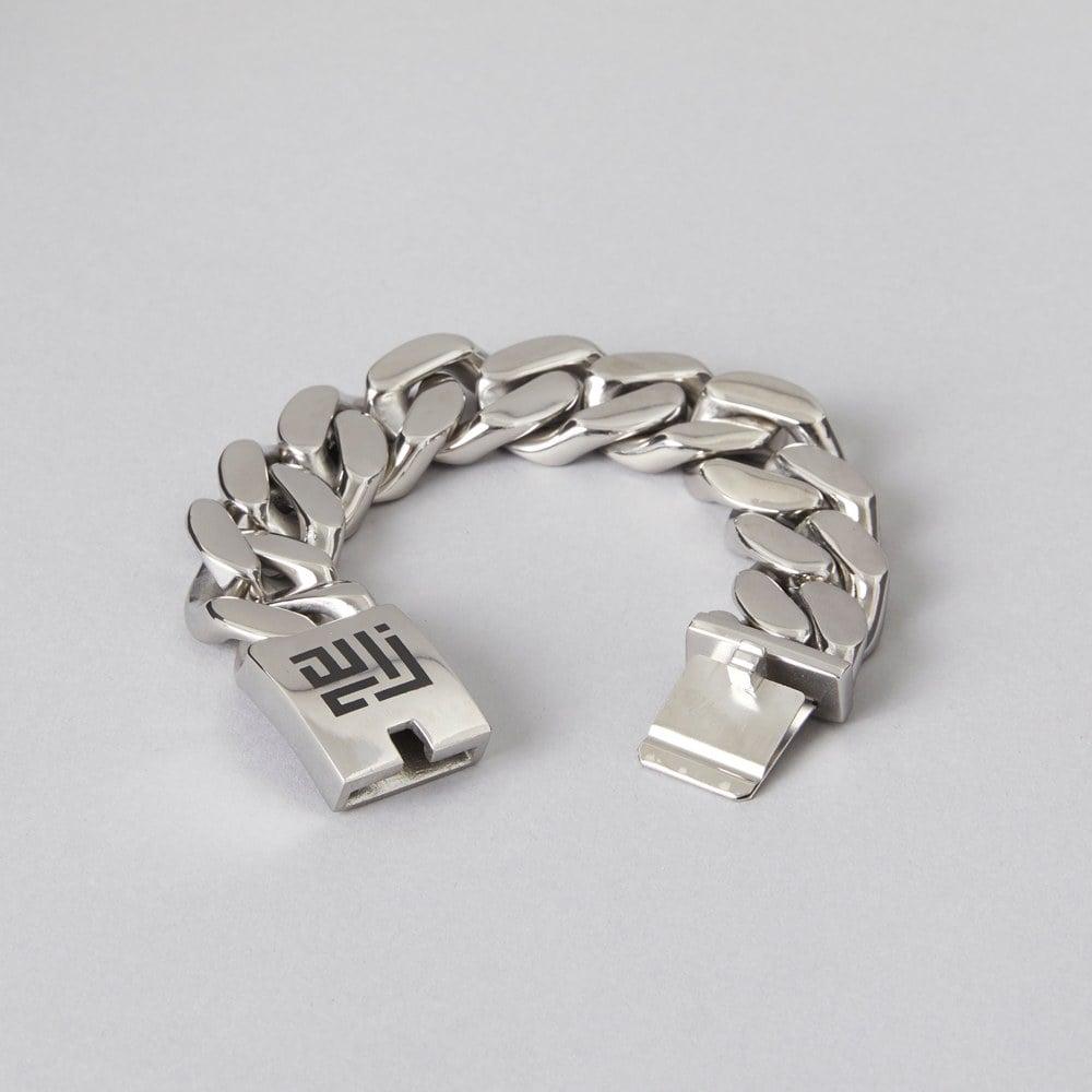 Sexy 20mm Wide Cuban Curb Stainless Steel Bracelet ZLCOPENHAGEN Danish Design